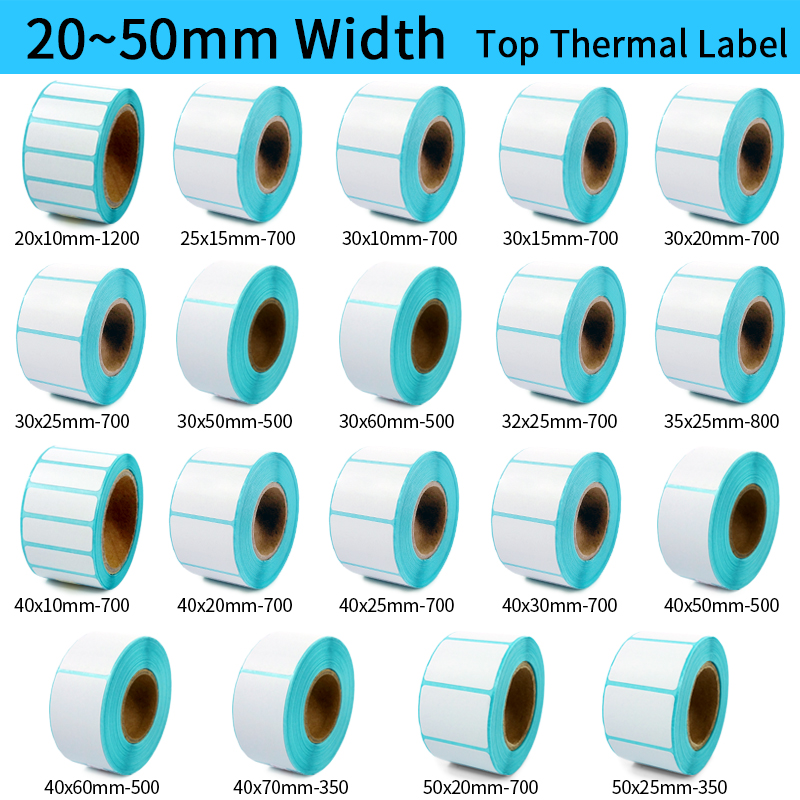 Thermal Label Sticker Paper for Walmart Adhesive Custom Sticker Printing Thermal Label Stickers