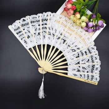 High Quality Lace Fan Folding Hand Fan Bridal Hand Fan