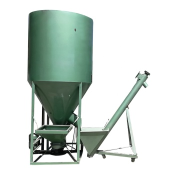 High Production Batch Cattle Feed Grinder Mixer Feed Processing Machine