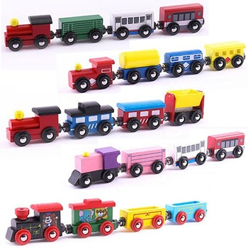 Train Toys Magnetic Set Toy Train Sets For Kids Toddler Boys And Girls - Compatible With Thomas Train Set Tracks And Major Brand