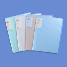 Office School 40 Pockets Clear Book A4 Size Display Book A4 Paper File Folder Book Stationery Folder