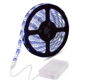High Efficiency AAA Battery Operated Light Strip RGB 5050 SMD Led Strip With Battery Box For Home Deco