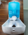 Logo printing manual wall mounted soap dispenser with drip tray