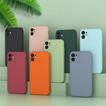 2020 New Model Mobile Accessories Original Silicone Cell Phone Case for iPhone 11 Pro Max Back Cover with Soft Microfiber Lining