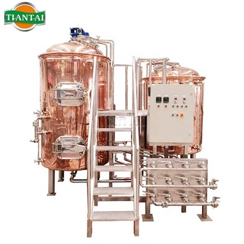 5HL Red Copper Micro Brewery Equipment For Beer Brewing Your Own Brewery / Brewpub