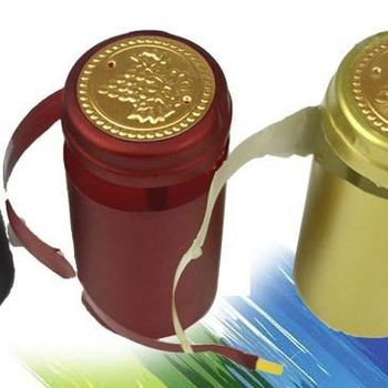 pvc shrink capsules with tear tabs for wine bottles