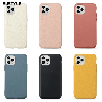 Biodegradable Cell Cases for iPhone 6 7 8 Plus XR XS Max Eco-friendly Cover for iPhone 11 Pro Max Biodegradable Phone Case