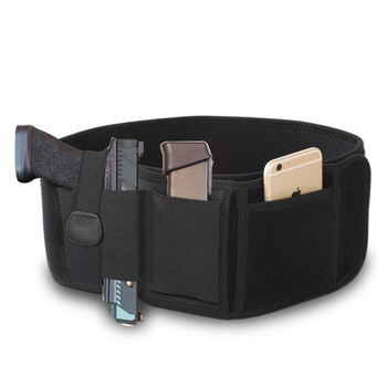 custom soft neoprene waist band pistol concealed carry belly band gun holster