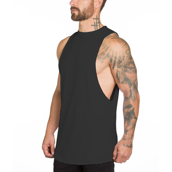 Wholesale Manufacturer New Design Cotton Comfortable Sleeveless Men Tank Tops Fitness Singlet Bodybuilding Workout Gym Vest