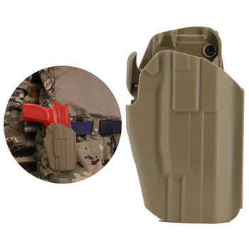 Waist Tactical Hunting Pistol Gun Holster For G17S G19 WITH SF Light-Bearing