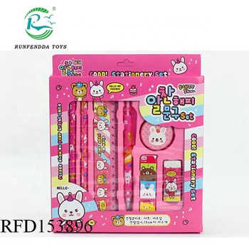 Back to school stationery set for kids pencil notebook eraser set,office stationery