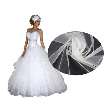 Polyester Mesh Soft Tutu Bridal Decoration Bulk Bolt Roll 300cm Tulle Fabric For Gown Dress