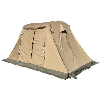 Cold Weather Inflatable Canvas Tent Canvas Tent with Chimney Hole for Stove Winter Cotton Canvas Tent with Air Tube Poles