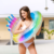 factory stock quick shipping ins hot shinny beautiful princess double thick  adults mermaid tail inflatable swimming ring float