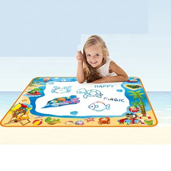 New large size hot selling kids early educational toys big canvas magic doodle water drawing mat