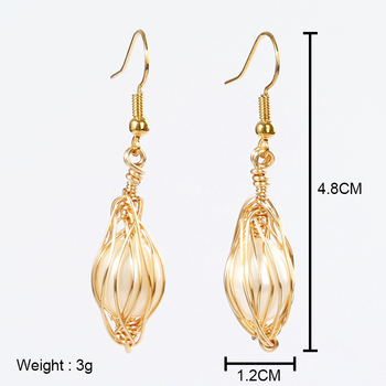 Xuqian new copper wire wrapped pearl earrings gold pearl earrings girl with pearl earrings