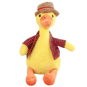 New design Plush fluffy yellow stuffed animals cute duck plush toy