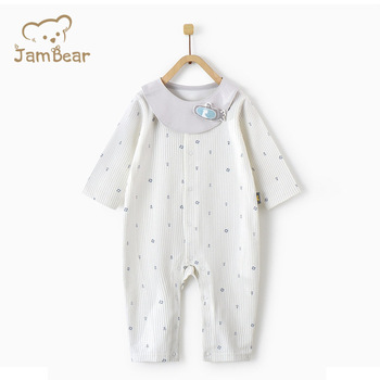 Organic 100% Cotton Newborn Infant New born Baby Clothes Girl Jumpsuit Romper Sleepwear Pajamas baby clothes