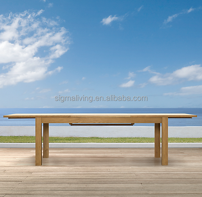 Living room garden sets outdoor teak extension dining table furniture