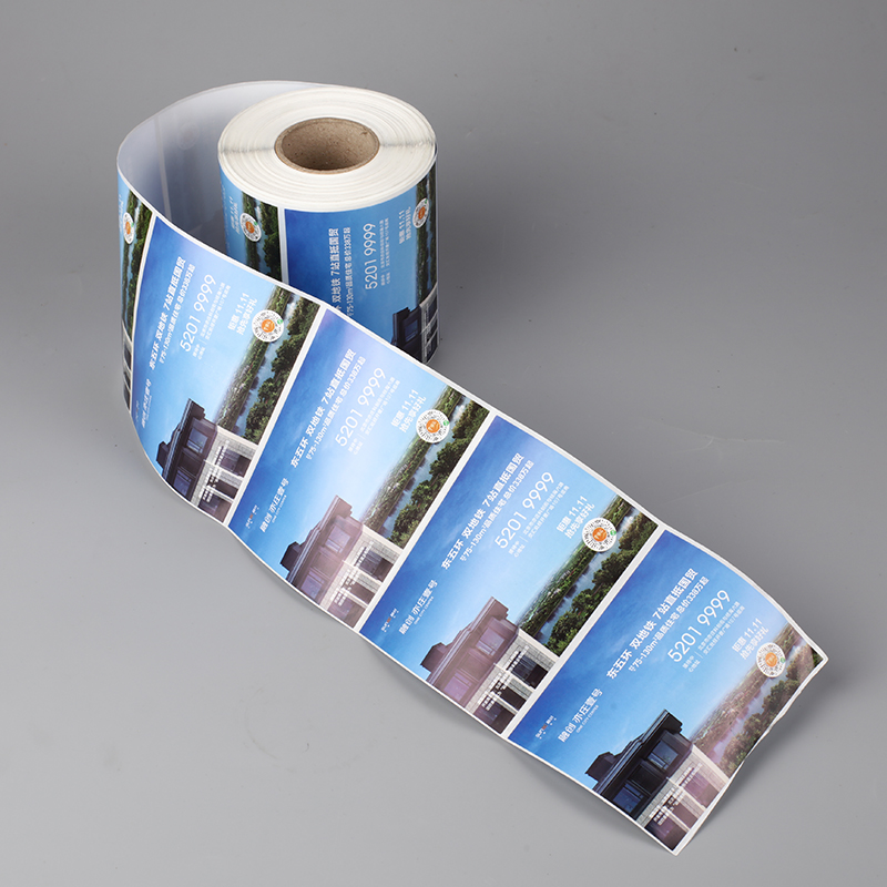 Hot selling blue color quality guaranteed roll sticker label for real estate