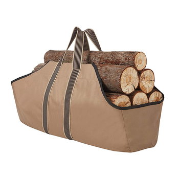 Durable Canvas Storage Bag Firewood Logs Carrier Wood Tote Bag