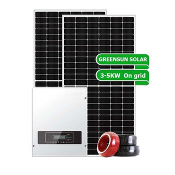 Solar Panel System Set 3kw 3000w 5kw Solar System On Grid 8kw Solar System for Housing