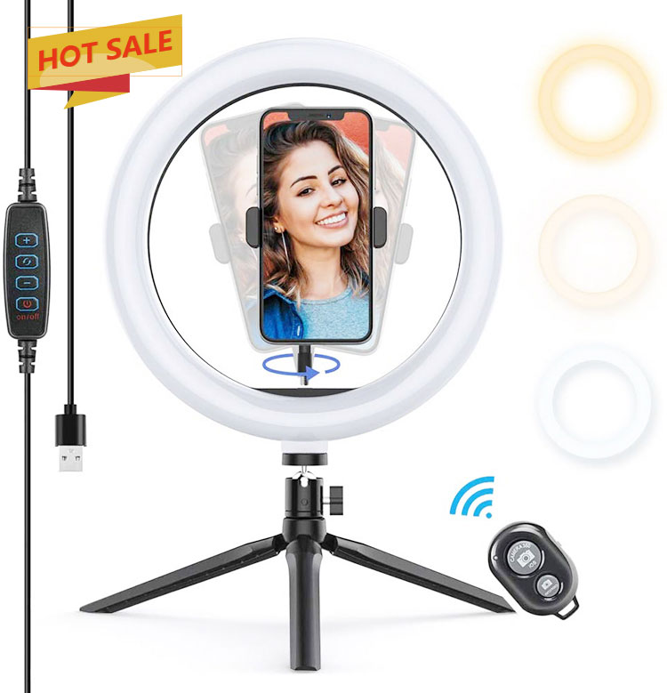 Selfie Light M26' 3 Color Light With Small Stand - 3521