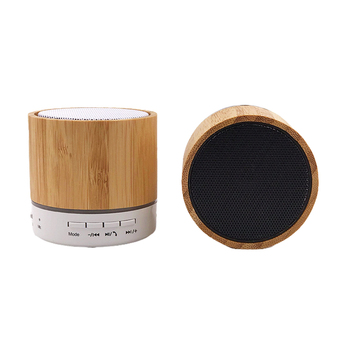 Hot sale 2021 Natural wireless bamboo wooden mini bluetooth rechargeable stereo speak Portable Wireless outdoor speaker