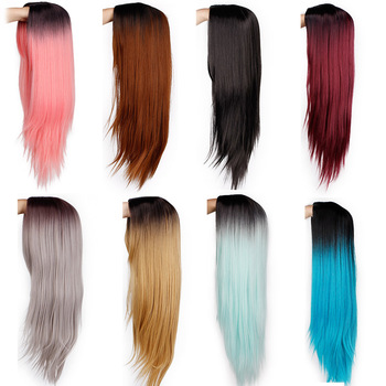 brazilian synthetic ombre lace front wig high quality synthet lacefront wig custom color part sintetica frontal party fancy wigs