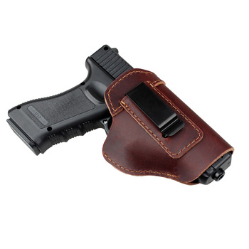 Quick Draw Concealed Carry Leather Gun Holster Pistol For Glock 17 19 26 45 Women Men