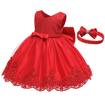 baby girl party dress children frocks designs Lace puffy wedding frock little princess dress kids flower party