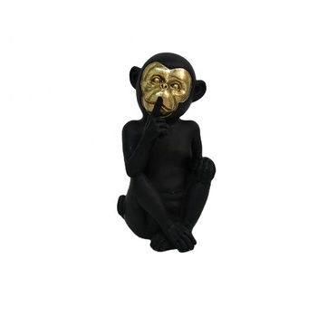 popular tabletop decor funny resin no speak monkey ornaments nature design sculpture handmade resin crafts gift
