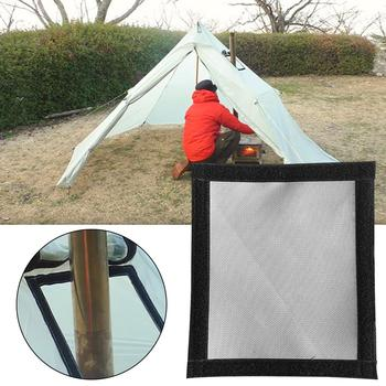 Hot Tent Stove Jack Tent Highly Flame-retardant Firewood Stove Chimney Furnace Pipe Fireproof Anti-scald Protection Ring