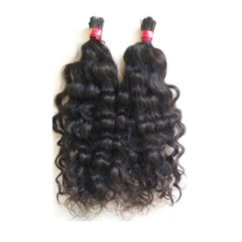 Factory Wholesale Pre bonded Micro link raw indian hair wavy i tips hair extension