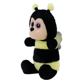 Wholesale hot selling custom cute plush honey bee for children soft animals stuffed yellow bee toys