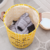 Durable environment friendly canvas fabric stockpile bucket foldable clothes laundry storage basket hamper
