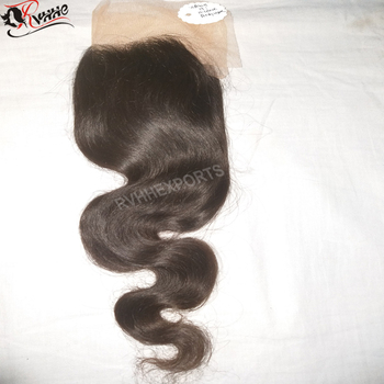 Indian Virgin Cuticle Aligned Raw Temple Human Closure Hair
