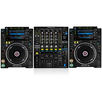 Pioneer dj of CDJ-2000 Nexus (2) CD Players 1 DJM-2000 Nexus DJ Mixer
