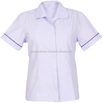 High School Girls White Shirt and Blouses School Uniforms