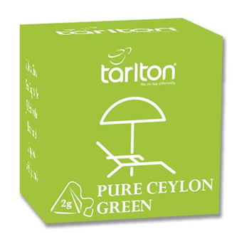 Ceylon Green Tea in Biodegradable Pyramid Tea Bags Individual in Boxes - Tarlton Travel Pack // Private Label Available