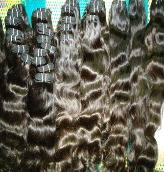 Raw virgin unprocessed human hair Natural raw indian hair, 12ACheap 100% Natural Colour Can Be Dyed Virgin Indian Hair Wholesale