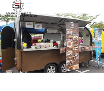 Slung hot dog food cart new mobile food trailer hamburgers carts for sale