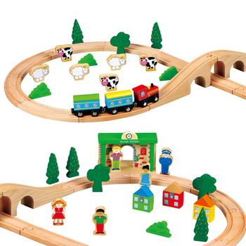 New Children Wooden Toy Train set,Quality Kids Wooden Train Toy, Hot sale best toy 2020