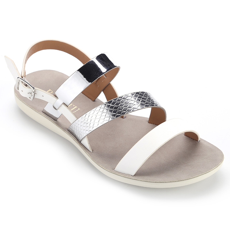 Stylish Summer Bling Cross Ankle Strap PU Ladies and Womens Outdoor sandals