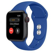Ремешок для apple watch, 38 мм, 42 мм, iwatch 4, 40 мм, 44 мм, для apple watch 5, силиконовый ремешок для Apple watch 3, 2, ремешок(Китай)