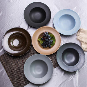 Good quality different colors 9 inch Ceramic porcelain round shape soup bowl