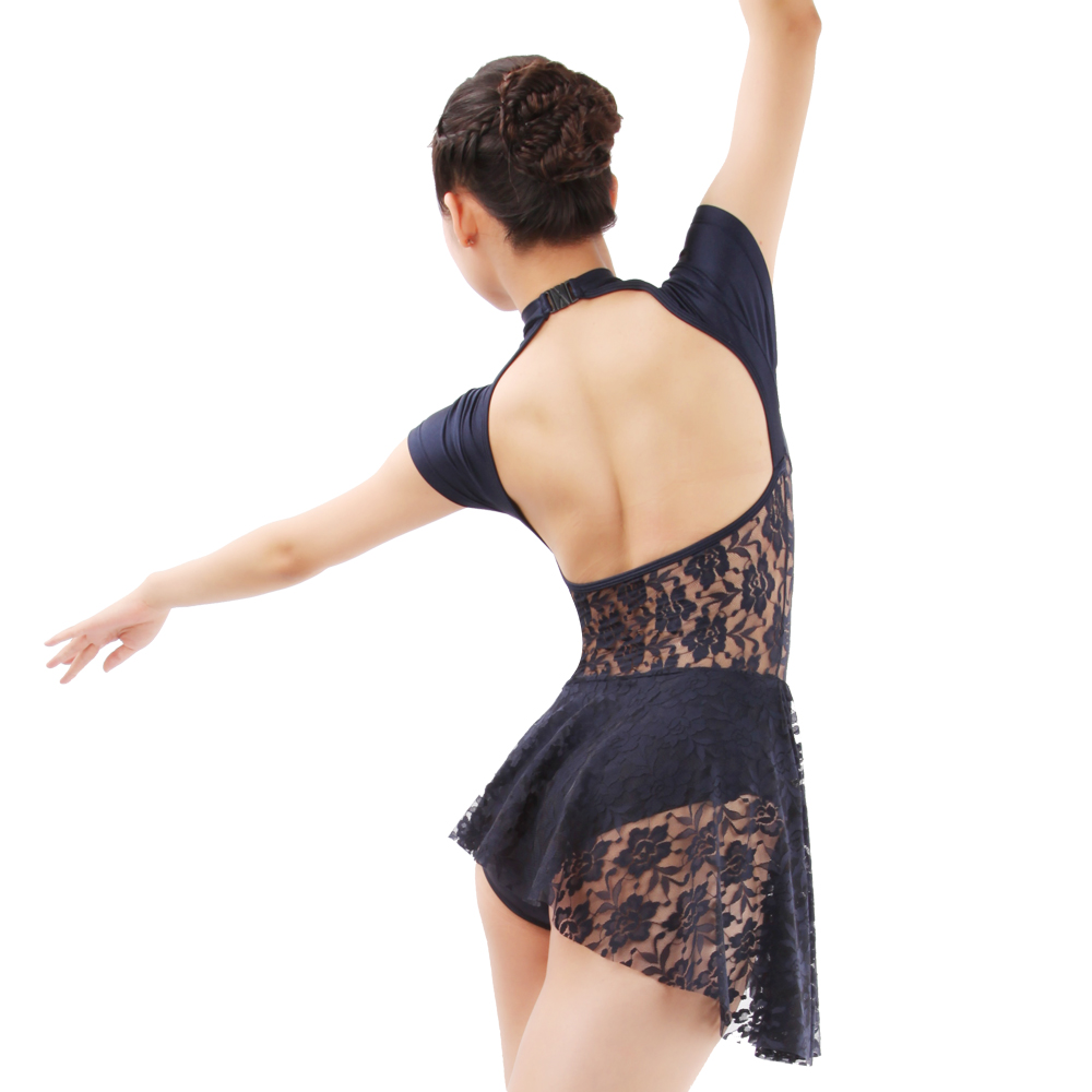 Lace Details    Custom Designed Dance Wear CONTEMPORARY Leotard with an Open Back Dance Leotard