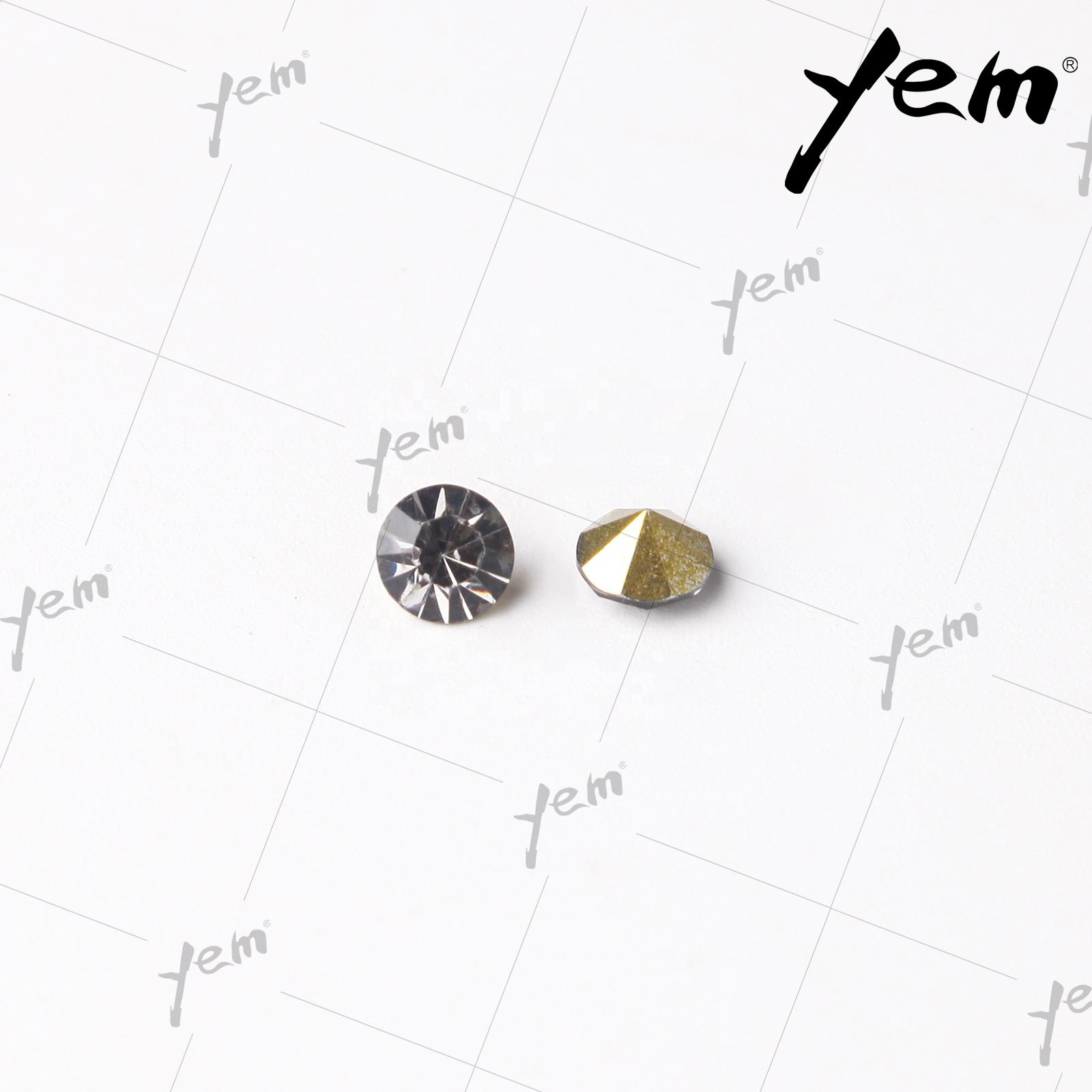 Кристаллы YEM, горный хрусталь, камень из смолы SS6 SS8 SS10 SS12 SS14 SS16 SS45, заостренная обратная сторона, Необычные горный хрусталь без горячей фиксации