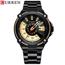 CURREN, новинка, топ бренд, мужские часы, мужские полностью стальные водонепроницаемые повседневные кварцевые часы с датой, мужские наручные ч...(Китай)