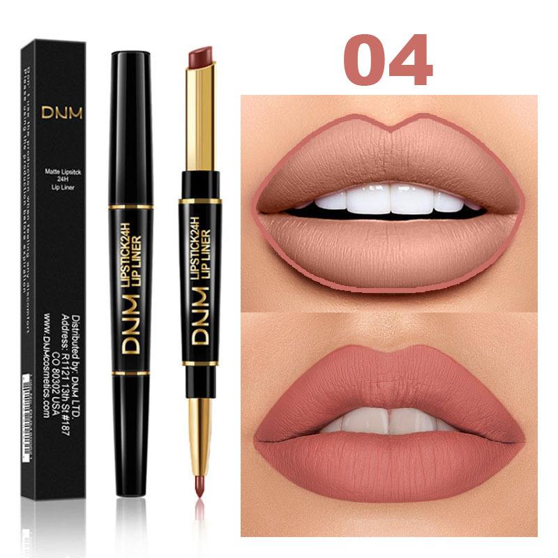 Double Head 12 Colors Long-lasting Lip Liner Matte Lipsticks Lip Pencil Waterproof Moisturizing Makeup Contour